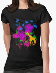 Yellow Giraffe. Womens Fitted T-Shirt