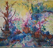 Spring Flood 16x20 acrylic on canvas by eoconnor