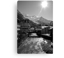 Chamonix Bridge Canvas Print