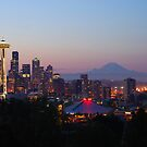 Seattle Skyline at Dawn by Jennifer Hulbert-Hortman