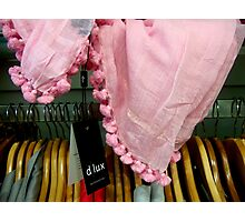 Drape and hangers by Alice Photographic Print