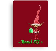 Head Elf Canvas Print