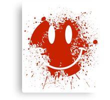 Acid House Smiley Face - Grunge Canvas Print