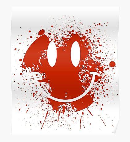 Acid House Smiley Face - Grunge Poster