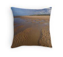 Holkham Beach Throw Pillow