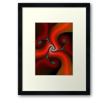 Be ware Red gnarls Framed Print