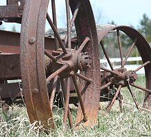 Rusted Spokes by Lynn  Gibbons