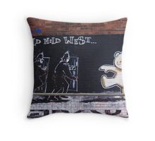 Banksy Bear Throw Pillow