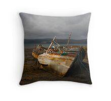 No more fishing Throw Pillow