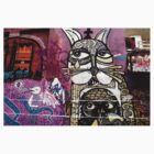 Cat Graffiti Melbourne by Roz McQuillan