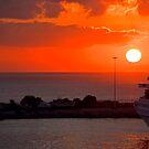 Sunrise over Heraklion Harbour by Tom Gomez