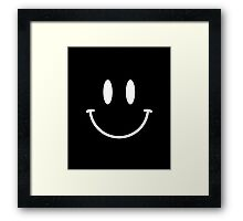 Acid House Smiley Face - Simple (dark) Framed Print