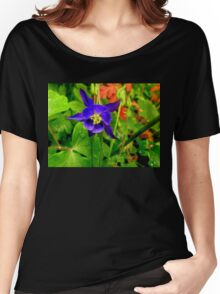 Wild Columbine in the Rain Women's Relaxed Fit T-Shirt