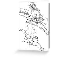 Figure Studies Greeting Card