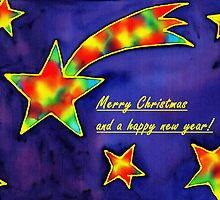 Christmas Greetings - Shooting Star by Caroline  Lembke