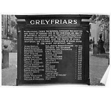 Greyfriars Kirkyard. Poster