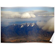 Snow in the mountains of Utah Poster