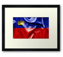 Liechtenstein Flag Framed Print