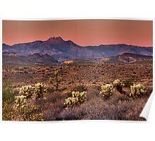 Sunset Across the Desert Poster