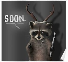 Soon Racoon Poster