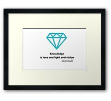 Knowledge is love and light and vision Framed Print