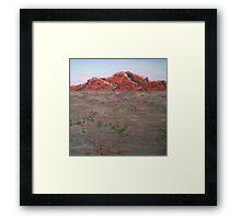 Red Outback Framed Print