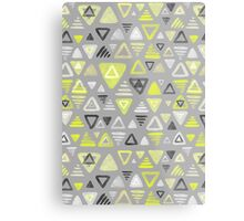 Summer Yellow Triangles on Grey Metal Print