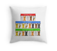 Thanks to a great cycling coach. Throw Pillow