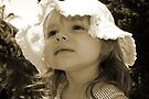 Little Girl In Sepia by Evita