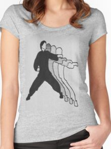 Karate Action Figure Women's Fitted Scoop T-Shirt