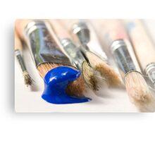 Blue Brush Metal Print