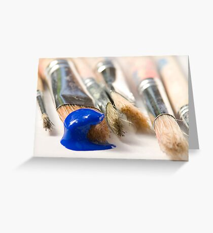 Blue Brush Greeting Card