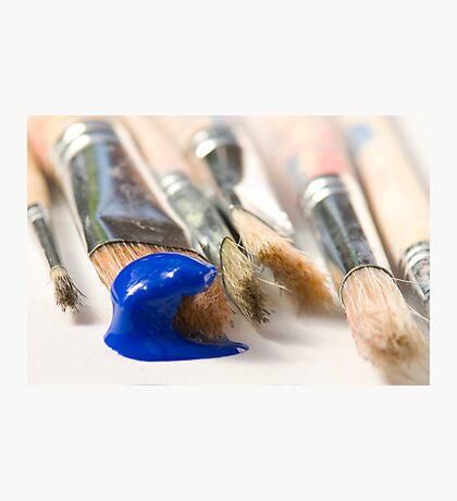 Blue Brush Photographic Print