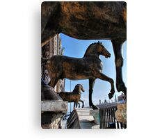 Horses at St Mark's Basilica Canvas Print