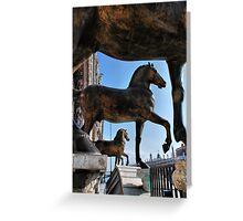 Horses at St Mark's Basilica Greeting Card