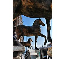 Horses at St Mark's Basilica Photographic Print