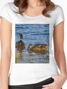 Two little ducks Women's Fitted Scoop T-Shirt
