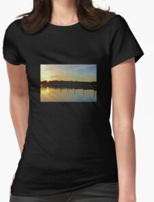Sunrise at the Marina Womens Fitted T-Shirt