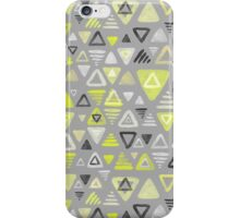 Summer Yellow Triangles on Grey iPhone Case/Skin