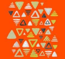 Summer Yellow Triangles on Grey Kids Clothes