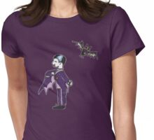 Vampire and His Bat Womens Fitted T-Shirt