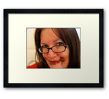 No I haven't seen your chocolate...? Framed Print
