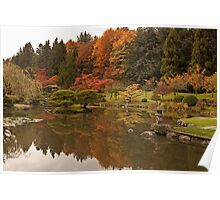 Reflections in the Koi pond Poster