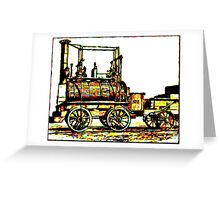 """Blücher"" a steam locomotive by George Stephenson 1814 Greeting Card"