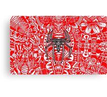 Spider-Man Zentangle Art Canvas Print
