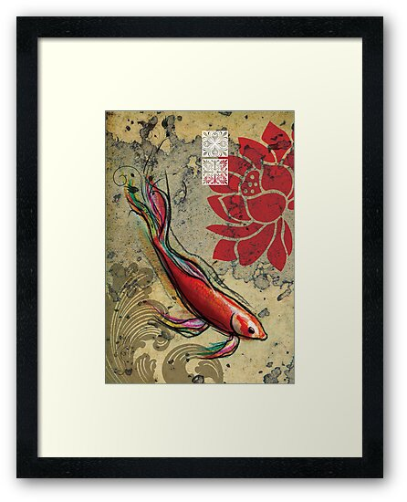 The Lucky Fish- Mixed Media by Narelle Craven
