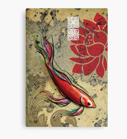 The Lucky Fish- Mixed Media Canvas Print
