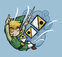 Legend of Zelda Wind Waker Wind's Requiem T-Shirt by Purrdemonium