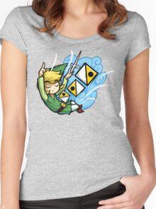 Zelda Wind Waker Wind's Requiem  Women's Fitted Scoop T-Shirt