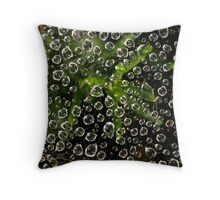 Web and Water Throw Pillow